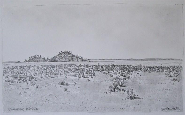 Mongers Lake 33x20 pencil