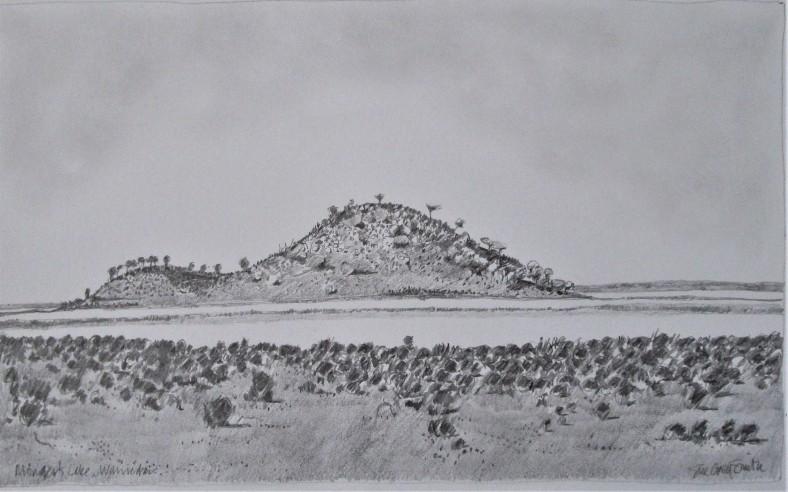 Monger's Lake Warriedar 33x20 pencil