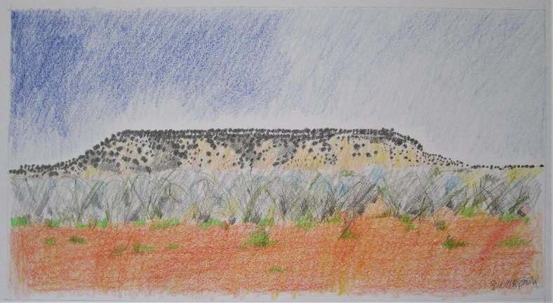 Flat-topped hill Gascoyne 33x20