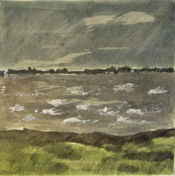 storm over estuary